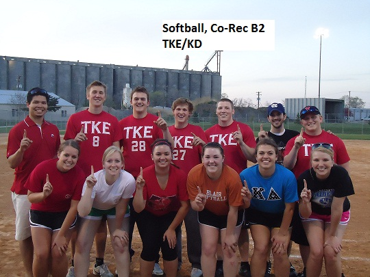 Last year's Co-Rec Softball B2 Division champions