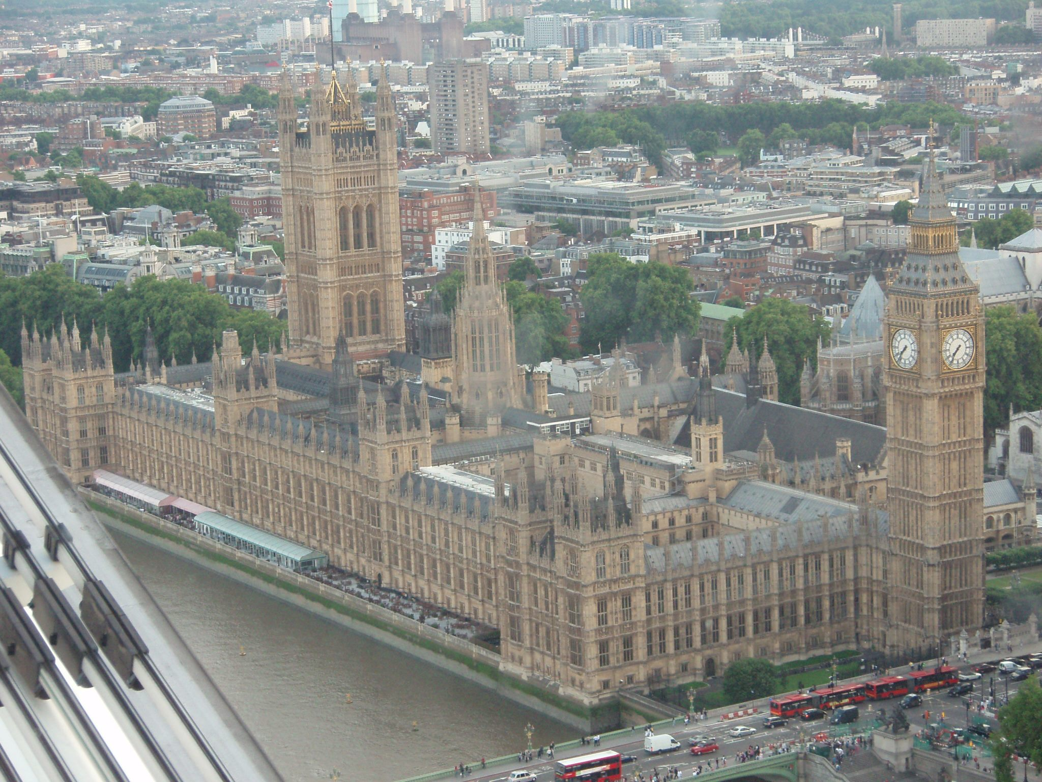 View of Big Ben from the London Eye