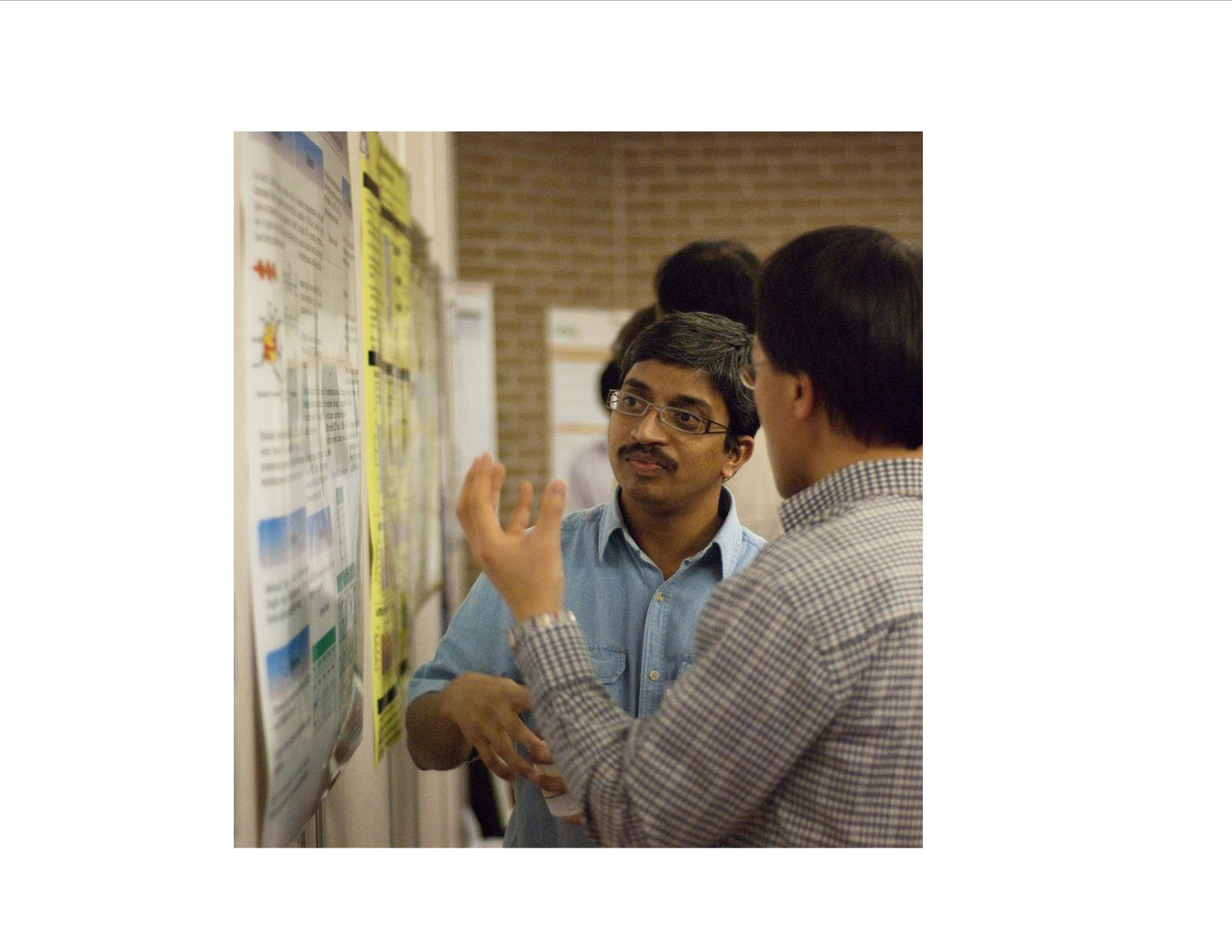 Photo from the poster session at the 2011 Nebraska Gateway for Nutrigenomics retreat.
