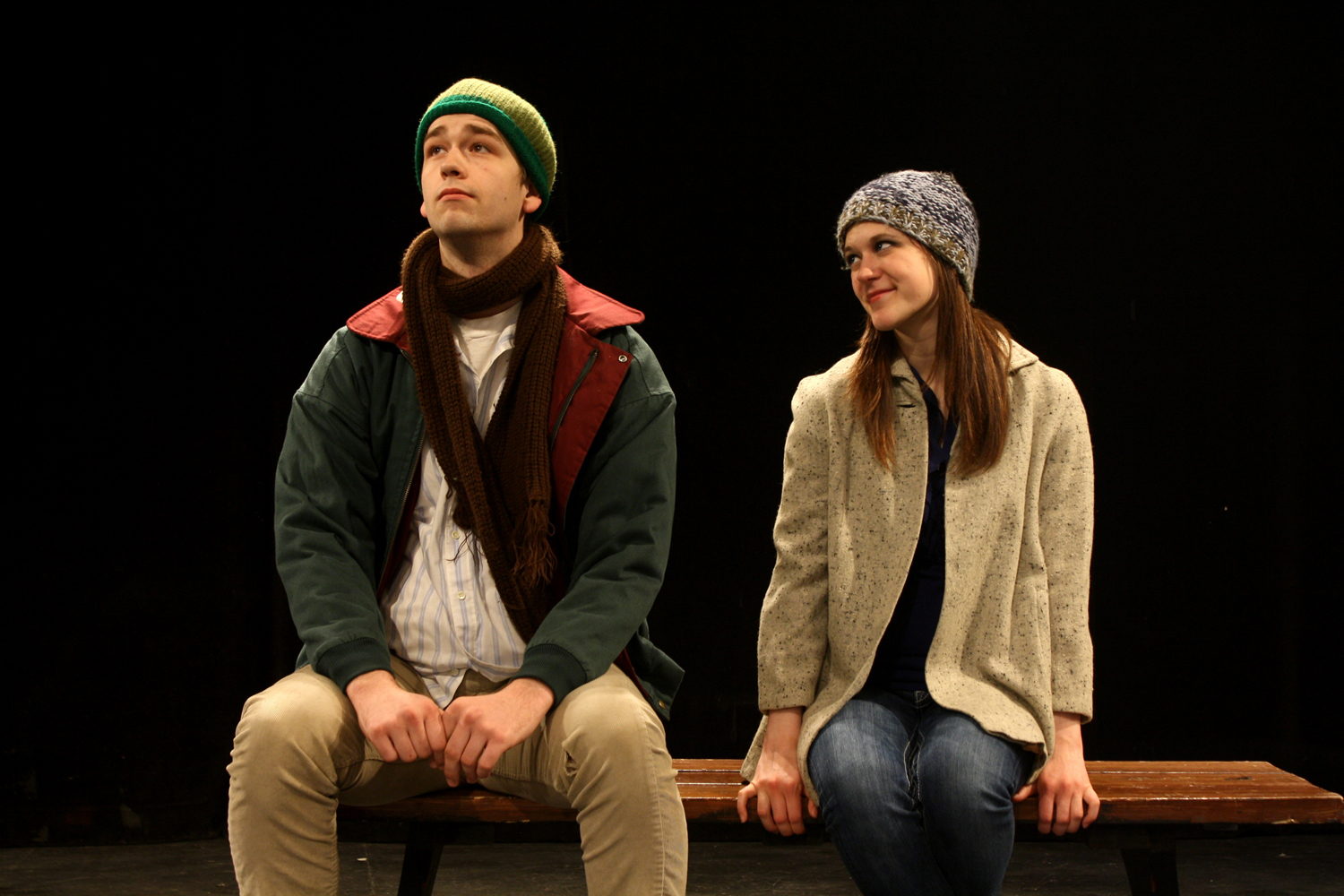 "Shade Ingraham and Kayla Klammer in ""Almost, Maine."""