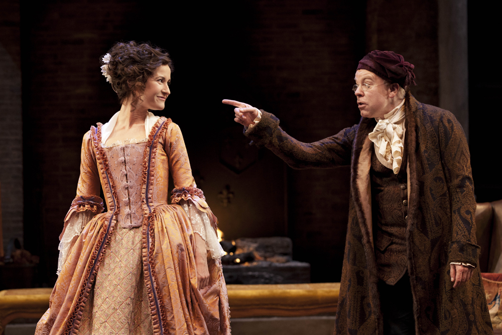 """Scene from """"She Stoops to Conquer."""""""