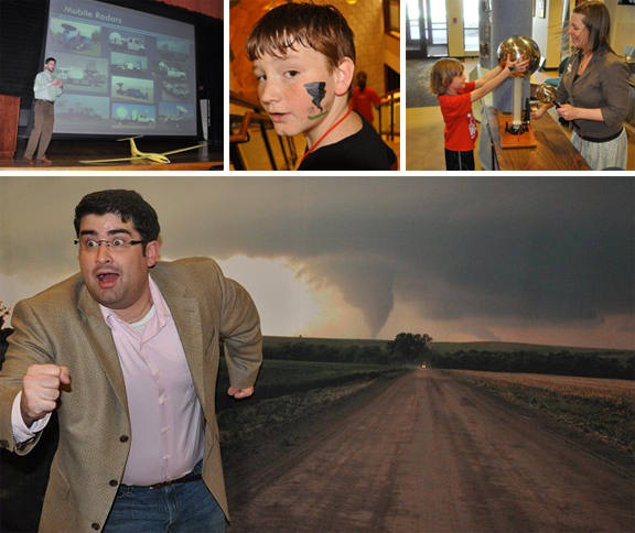 UNL's 12th annual Weatherfest and Central Plains Severe Weather Symposium is 9 a.m. to 4 p.m., March 31. These images are from the 2011 event.
