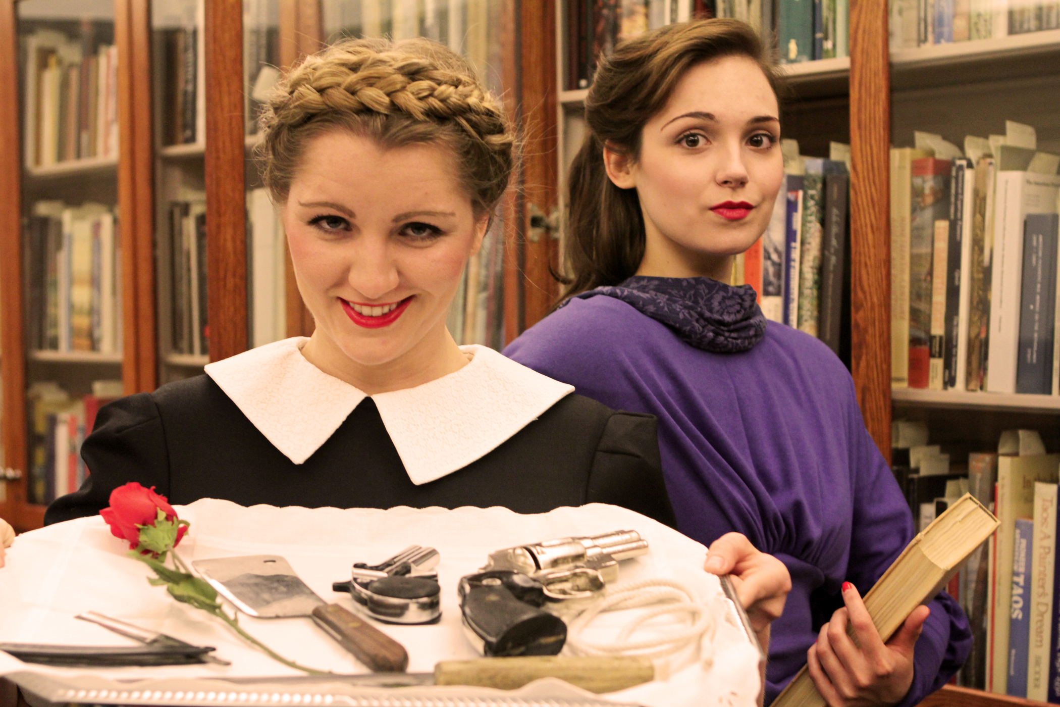 """Lucy Myrtue and Jessie Tidball star in University Theatre's production of """"The Musical Comedy Murders of 1940."""""""