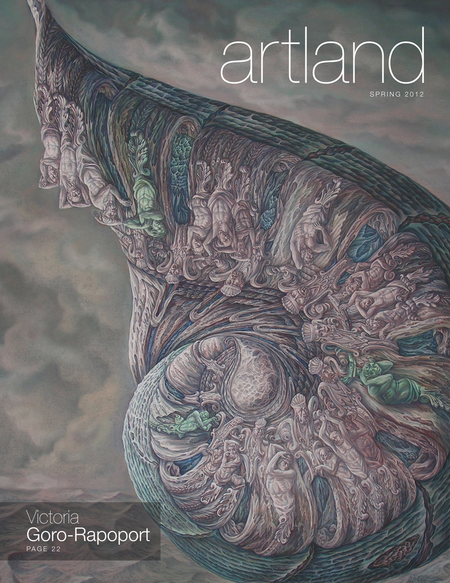"Cover of the inaugural issue of ""artland,"" a new magazine launched by the Sheldon Museum of Art."