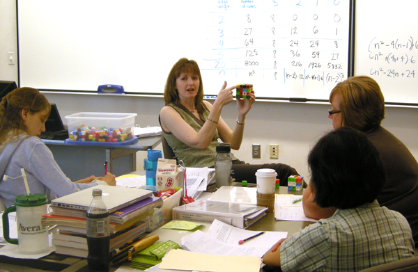 Elementary teachers in summer course