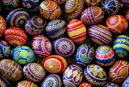 Slavic Easter egg designs.