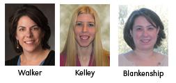 Judy Walker, Christine Kelley and Erin Blankenship