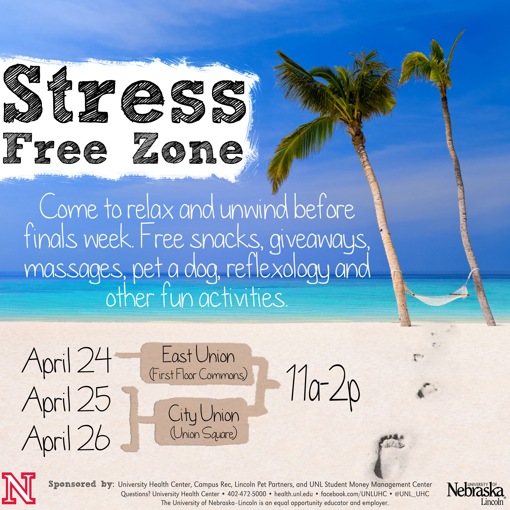 Step into the Stress Free Zone and relax before finals week.