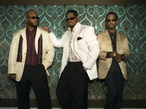 Wayna Morris, (left), Nathan Morris and Shawn Stockman: Boyz II Men