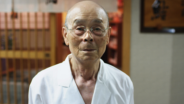 """Jiro Ono from a scene in """"Jiro Dreams of Sushi."""""""