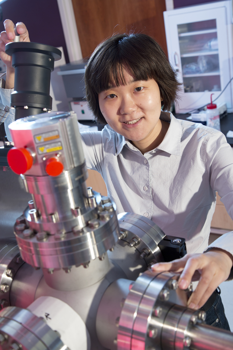 Xia Hong, an assistant professor of physics and researcher in the Nebraska Center for Materials and Nanoscience and UNL's Materials Research Science and Engineering Center is a new NSF CAREER award winner.  She studies epitaxial growth in complex heterost