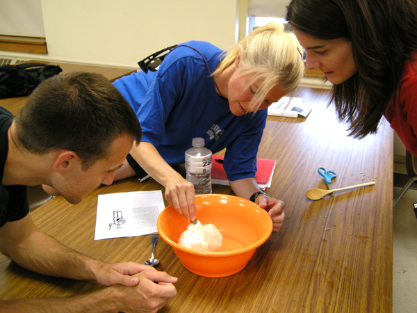 NMSSI GEOS 898 Geology of our Solar System 2011 - Making comets with Dr. Mindi Searls (right)