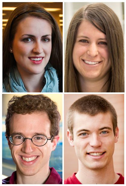 The four UNL students to receive Goldwater Scholarships are (clockwise from top left) Rachel Coburn, Elizabeth Spring Jaensch, Jared Ostdiek and Joseph Phillips.