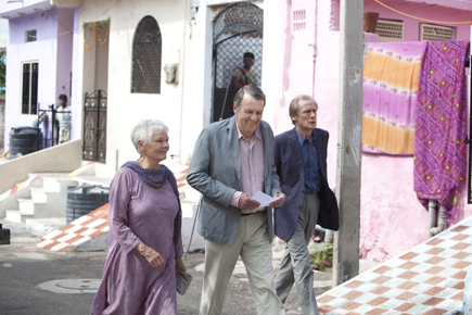 "Judi Dench, Tom Wilkinson, and Bill Nighy in ""Best Exotic Marigold Hotel"""