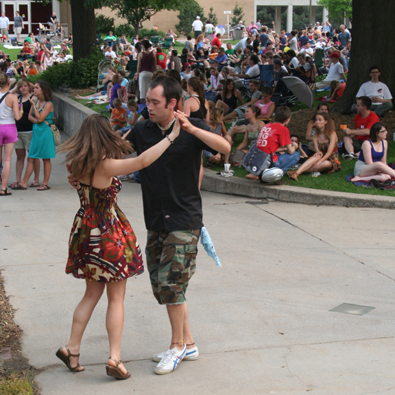 A couple dances during a 2011 Jazz in June concert. The annual series opens June 5.