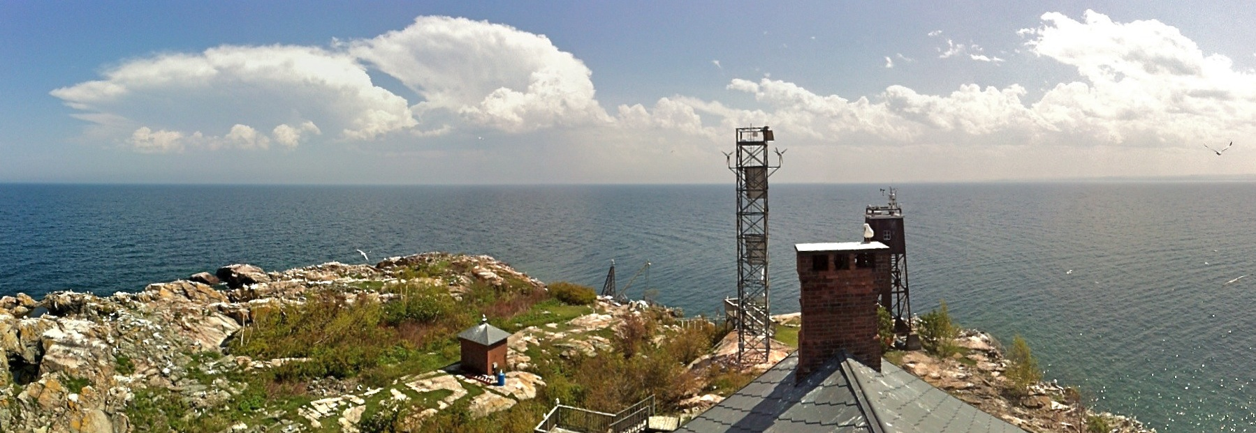 A University of Nebraska-operated meteorological station on Lake Superior. The lake is one of the world's most rapidly warming lakes.