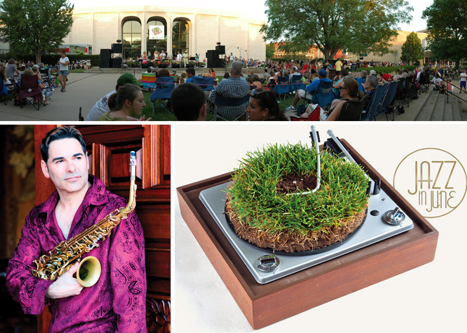 The June 26 season finale at Jazz in June features (bottom left) saxophonist and composer Will Donato.