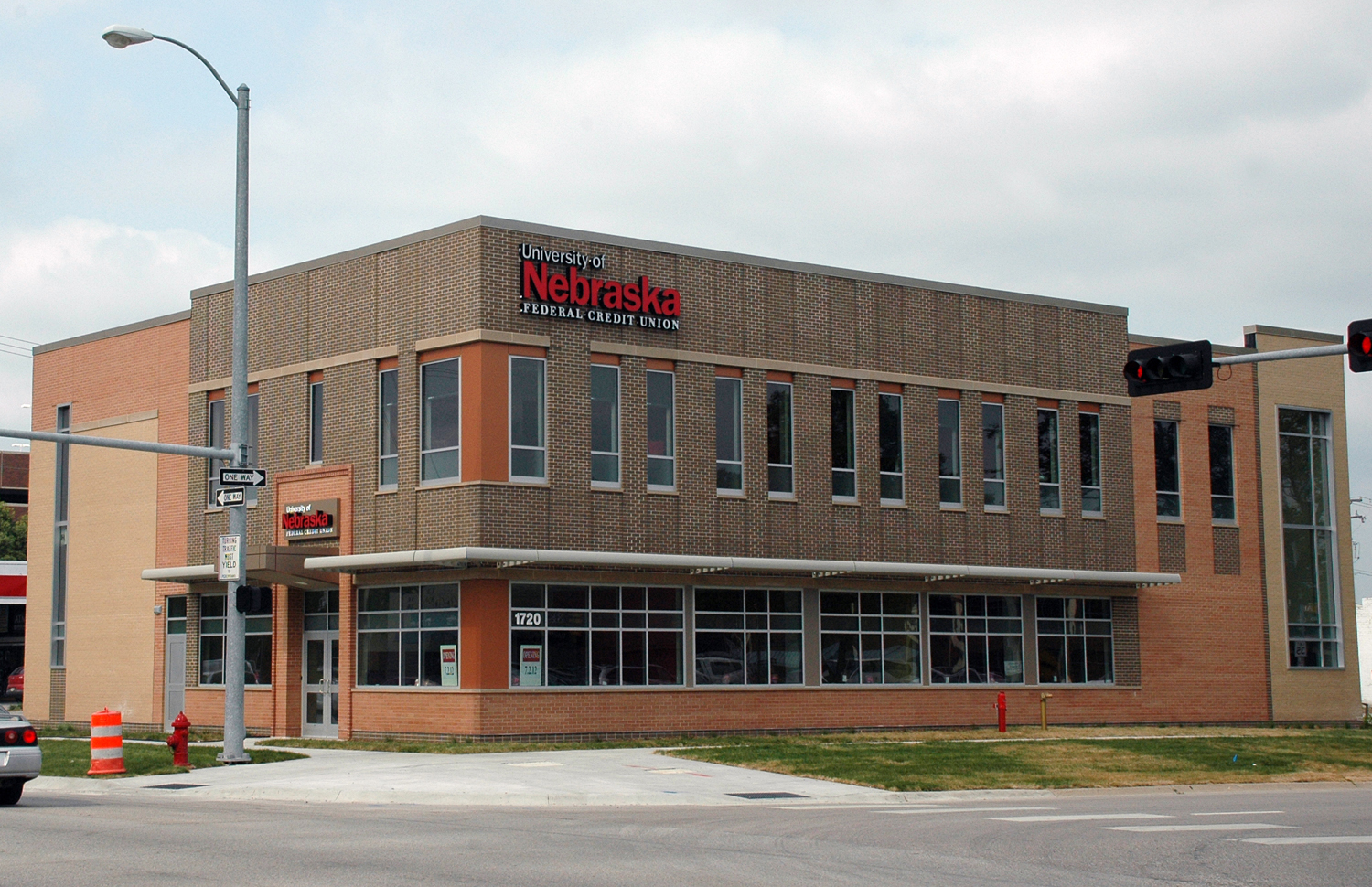 The new University of Nebraska Federal Credit Union building, located at 1720 P St.