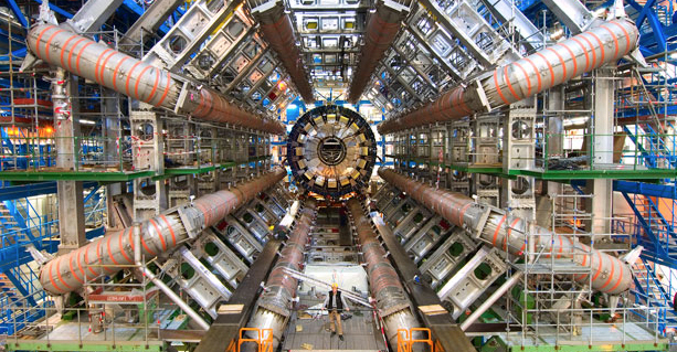 Image from inside the Large Hadron Collider.