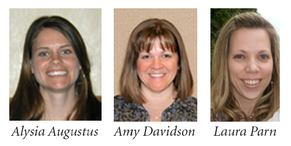 Alysia Augustus, Amy Davidson and Laura Parn are finalists for the 2012 PAEMST elementary award.