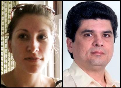 Prairie Schooner Book Prize winners for 2012 are (left) Xhenet Aliu and Ricardo Menes.
