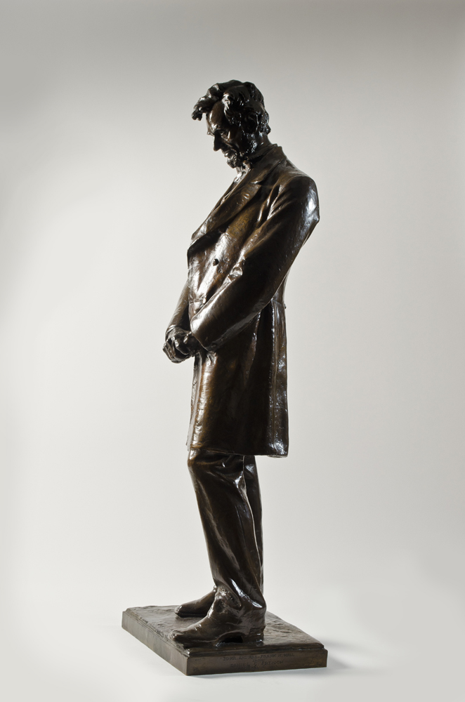 """Abraham Lincoln,"" a bronze sculpture by Daniel Chester French."