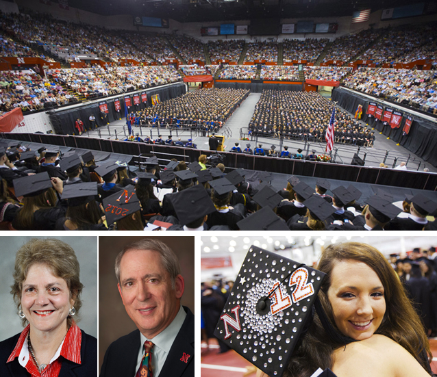 Summer commencement exercises at UNL are Aug. 10 and 11 at the Bob Devaney Sports Center. (Photos at bottom left, from left) UNL's Carolyn Pope Edwards and Dennis Molfese will give the commencement addresses.
