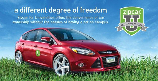 Students now have a new transportation option: Zipcar