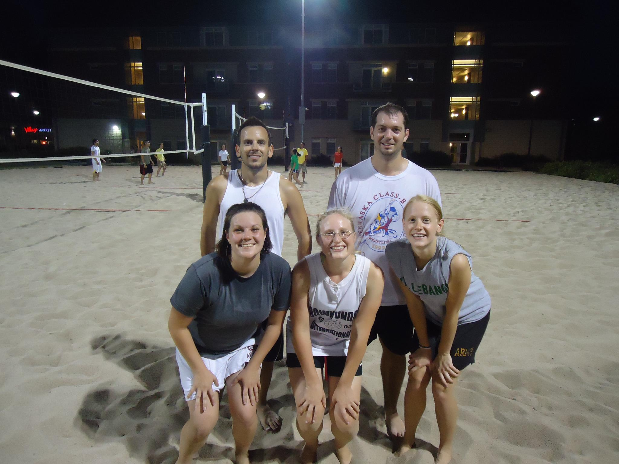 The team Paco and the Tacos were the Summer 2012 4v4 Sand Volleyball champions.