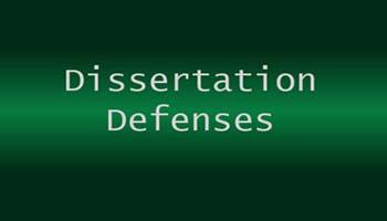 Doctoral dissertation assistance defence