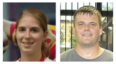 Jessica Bayer and Brent Quandt, last year's Punt, Pass, & Kick champions.