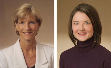 Sue Sheridan, left; and Lisa Knoche