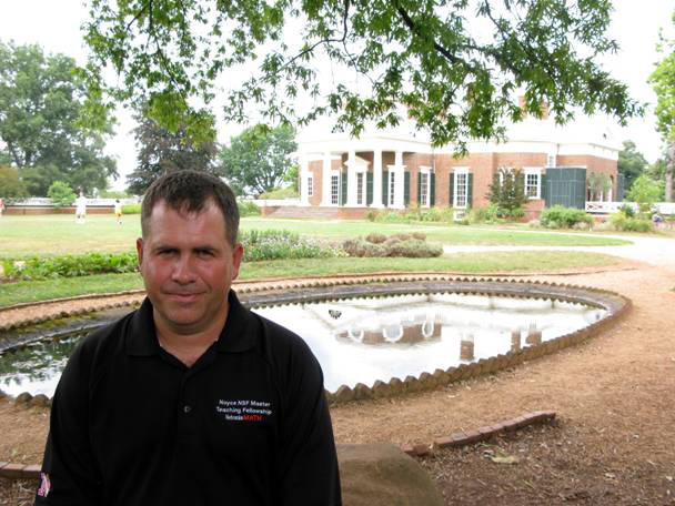 Dan Schaben at Monticello