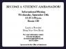 Student Ambassador Meeting