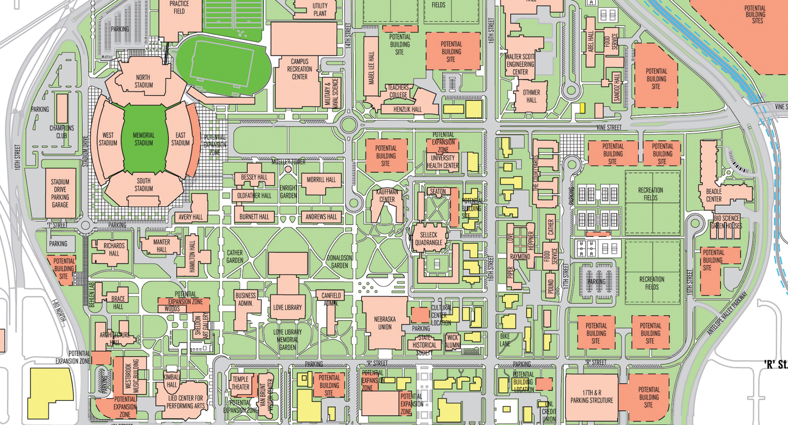 Unl City Campus Map Master plan open house sessions are Sept. 12, 13 | Announce