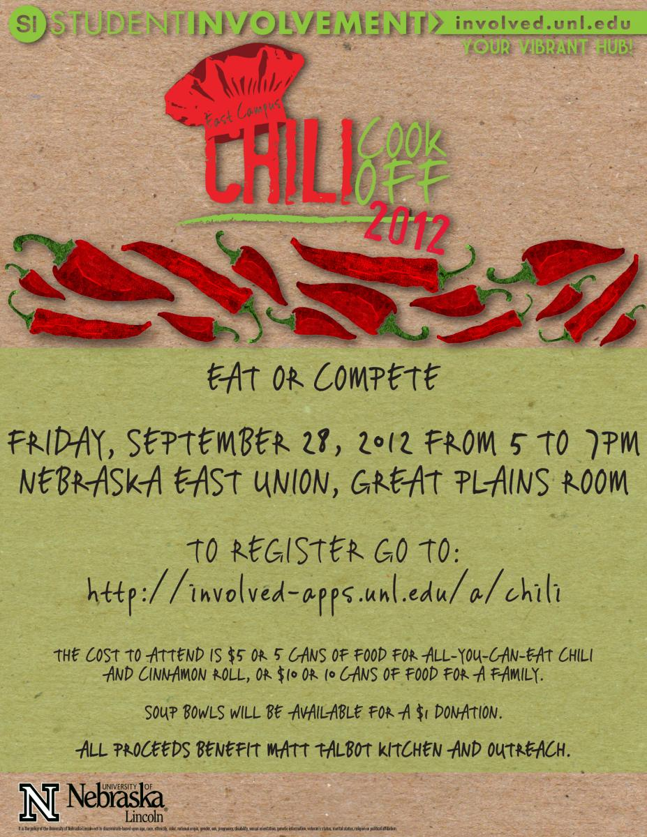 Chili cook off entries due sept 25 announce university of chili cook off entries due sept 25 xflitez Choice Image
