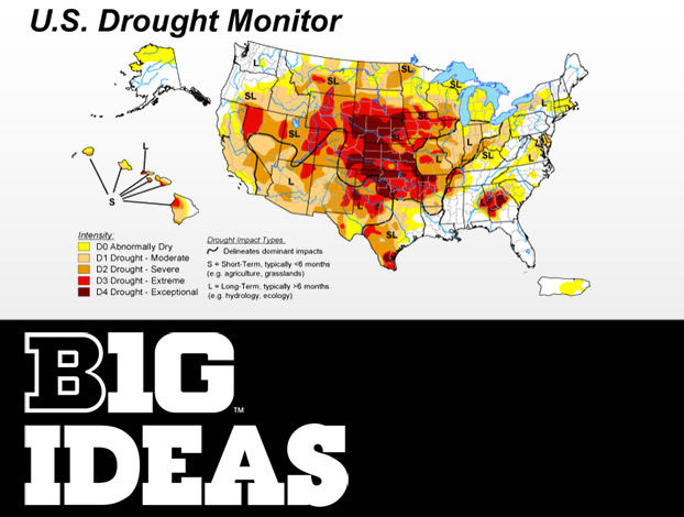 U.S. Drought Monitor map