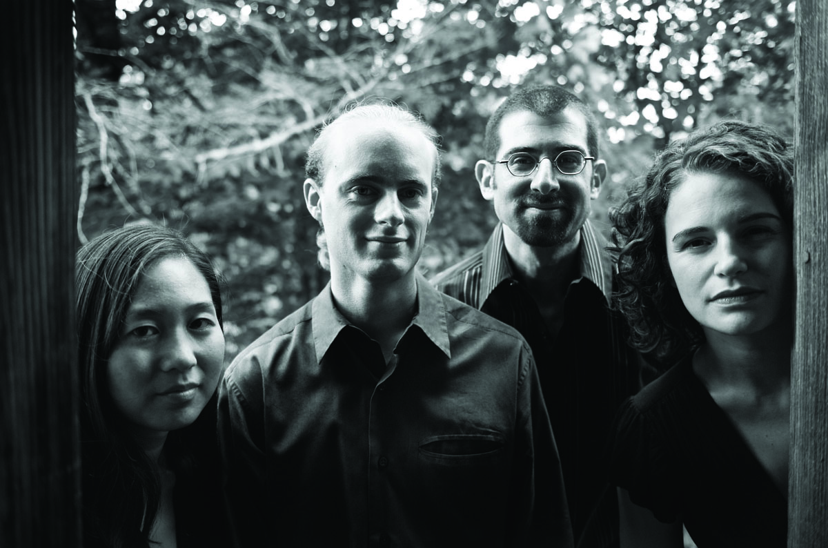 The Chiara Quartet is (from left) Julie Yoon, Gregory Beaver, Jonah Sirota and Rebecca Fischer.