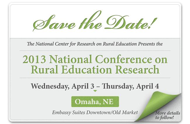 2013 National Conference on Rural Education Research
