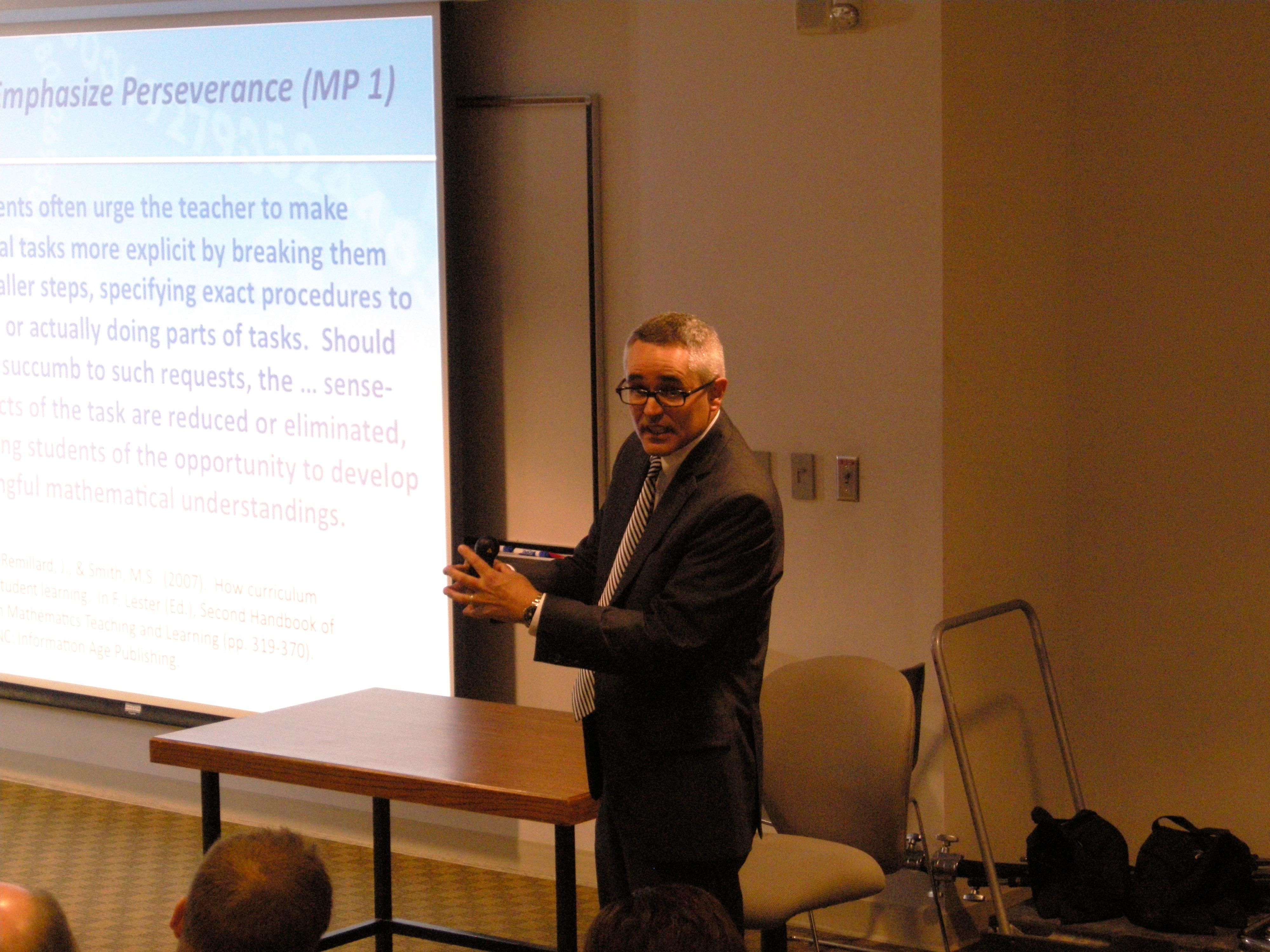 Dr. Matt Larson at the ESMP Conference, Oct. 22, 2011