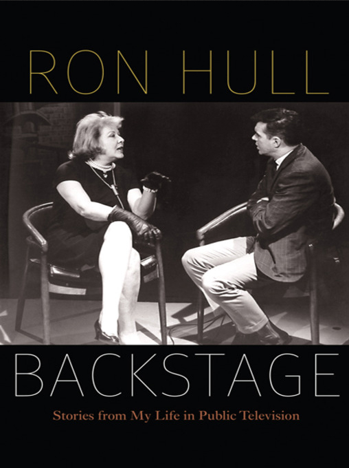 """Cover of Ron Hull's autobiography """"Backstage: Stories of My Life in Public Television."""""""
