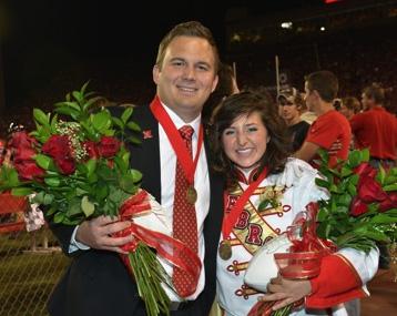 UNL's 2012 Homecoming king Ty Schurr and queen Hannah Lambert.