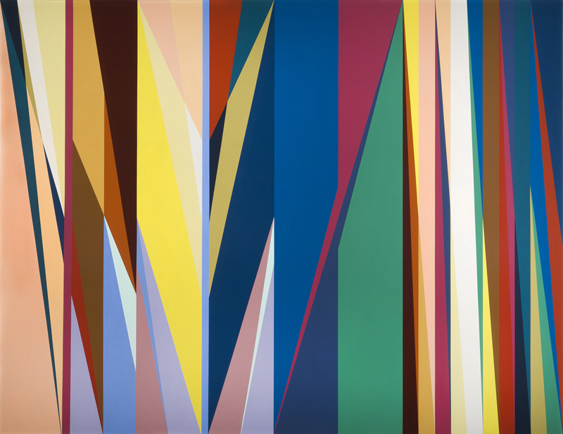 """Passage,"" 2010, Odili Donald Odita, acrylic on canvas, 84 x 109 inches"