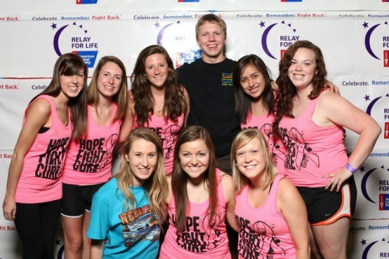 LisaMom Foundation team members sponsor a booth at last year's Relay for Life.