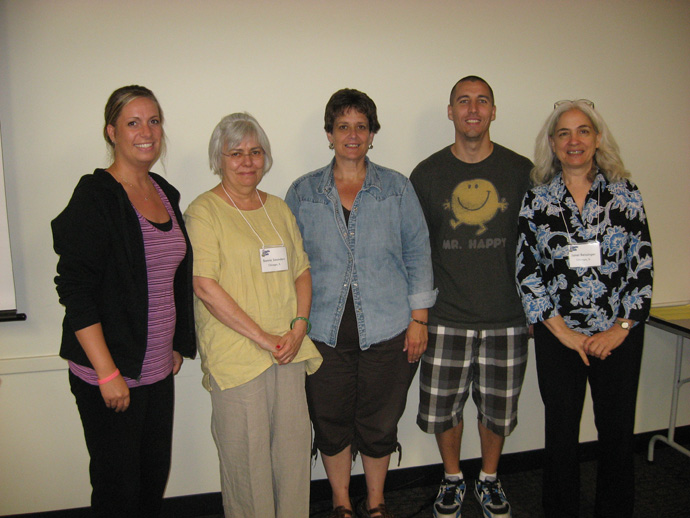 Angela Blank, Bonnie Saunders of UIC, Virginia Clark, Jeremy Renfro and Janet Beissinger of UIC