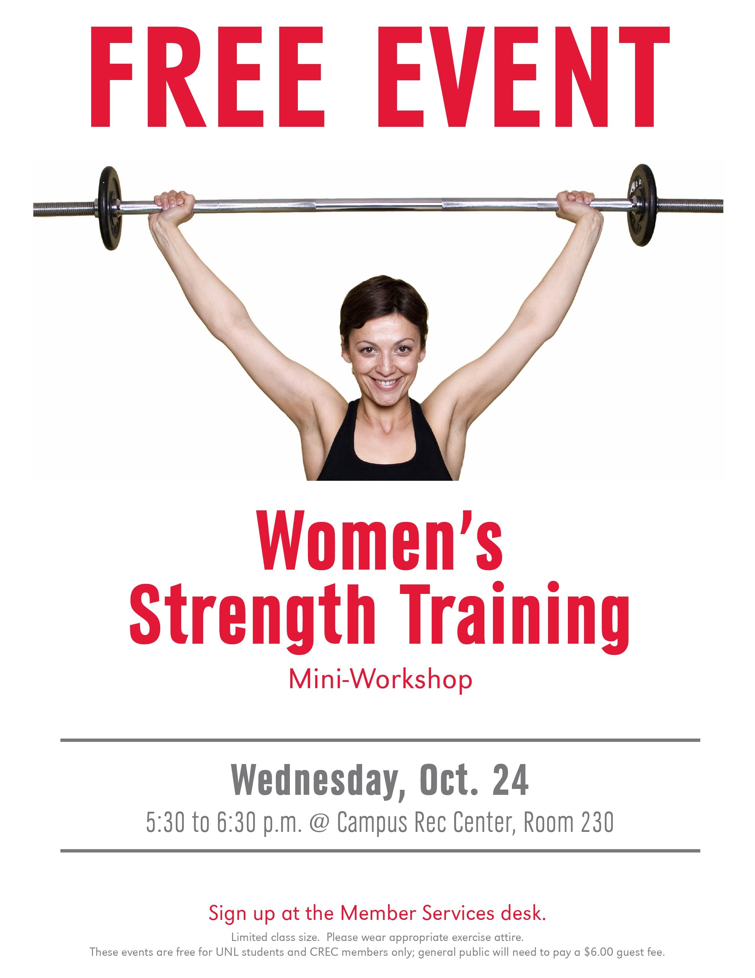 Free Strength Training Workshop