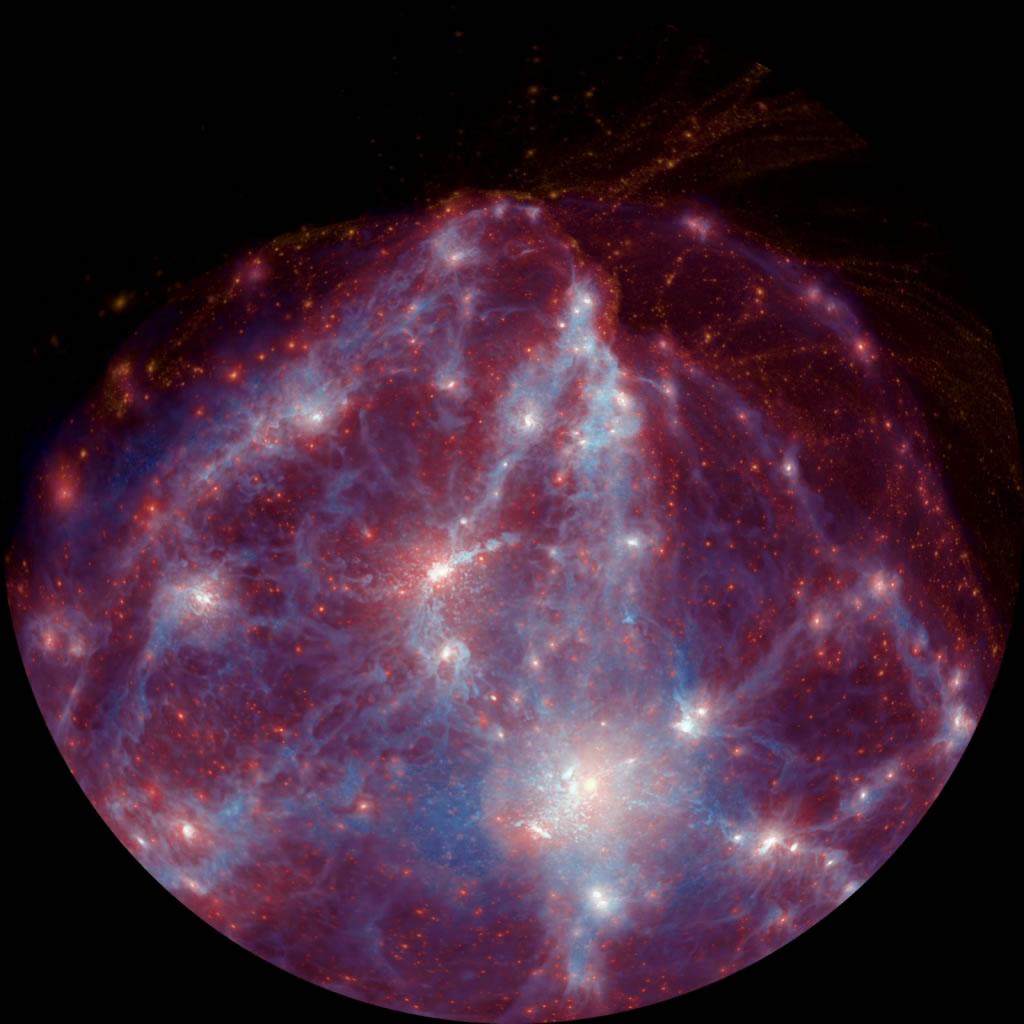 Galaxy formation simulation from Dark. Photo courtesy of University of Western Australia.