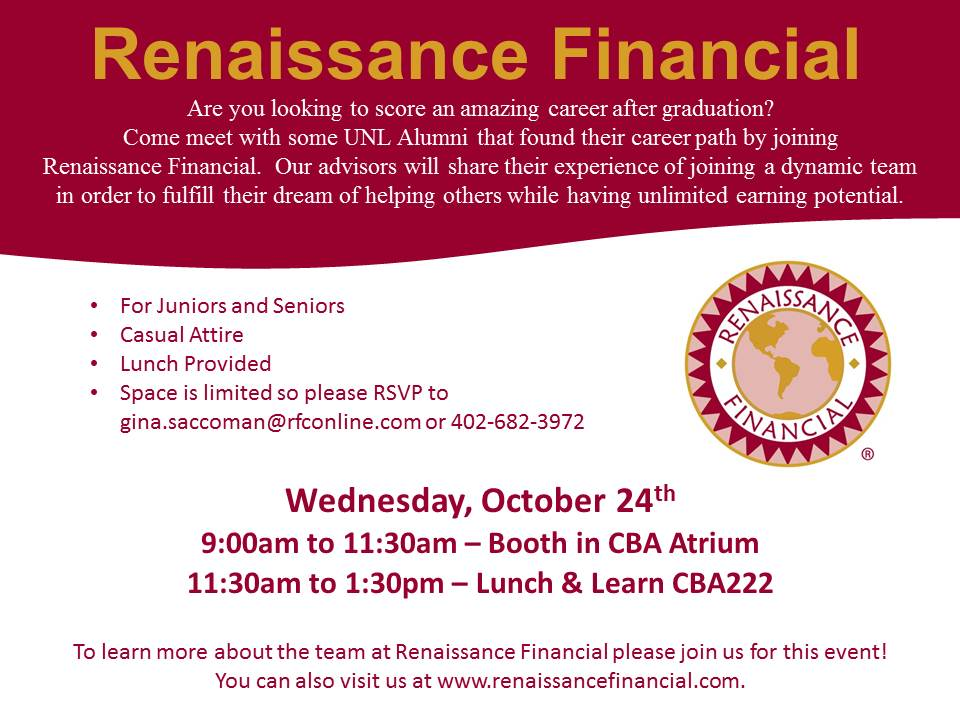 This week's CBA Employer in Residence is Renaissance Financial.