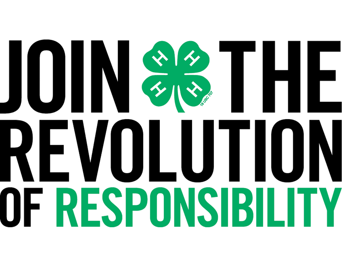 National 4-H's Revolution of Responsibility is a movement for positive change in every community in America. Find out more at http://www.4-h.org/about/revolution