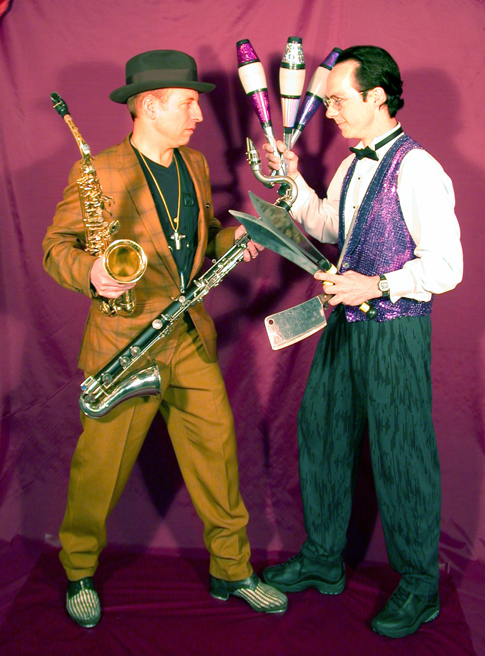 """JuggleMania"" at the Lied will feature the dancing musician Shoehorn (Michael Conley) and juggler Rhys Thomas."